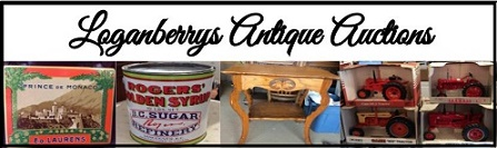 Loganberrys Antique Auctions Logo