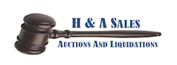 H & A Sales and Auction Logo