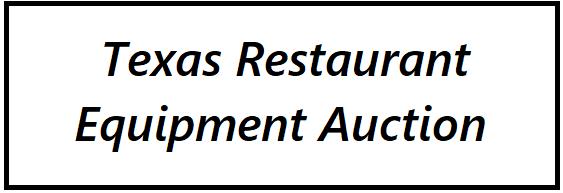Texas Restaurant Equipment Auction Logo