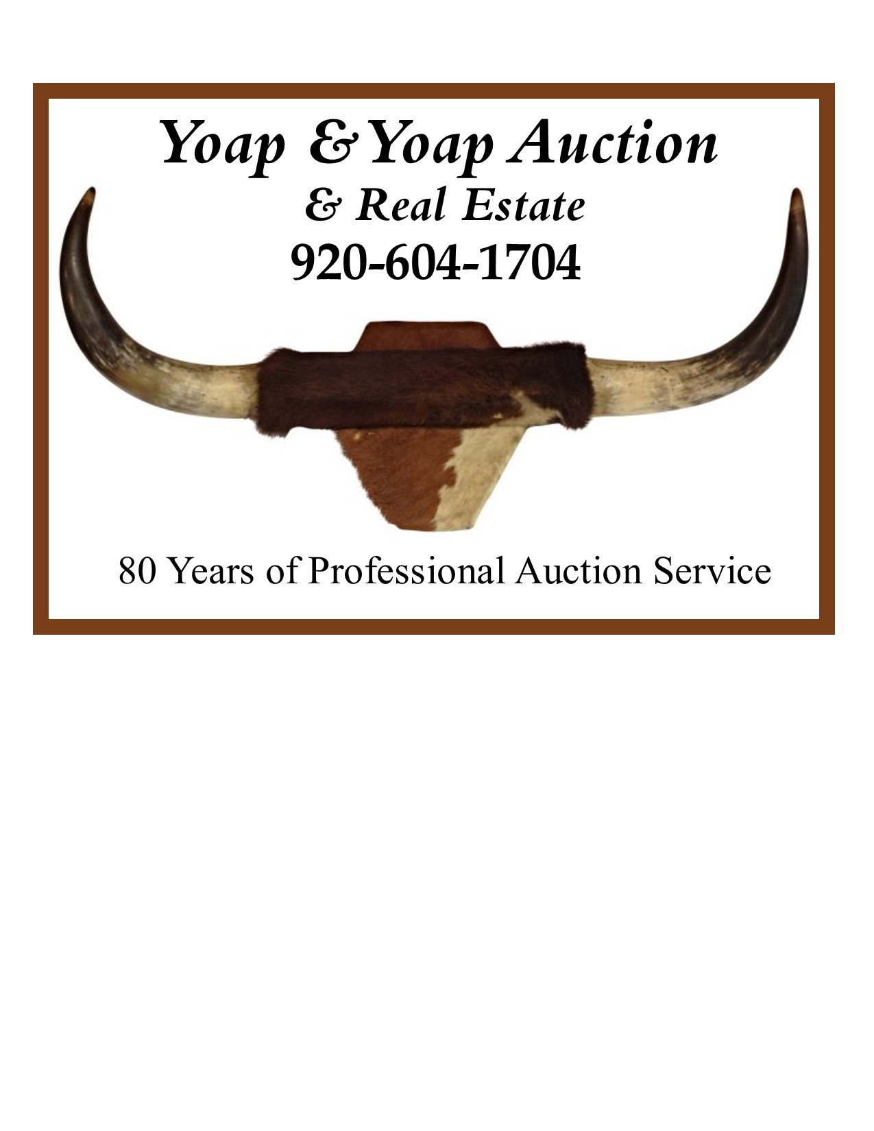 Yoap & Yoap Auction & Real Estate Logo