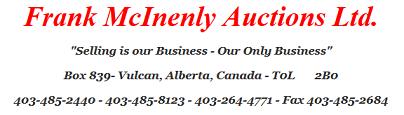 Frank McInenly Auctions Ltd. Logo