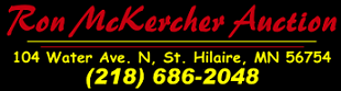 Ron McKercher Auctions Logo