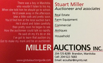 Miller Auctions Inc. Logo