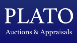 PLATO AUCTIONS AND APPRAISALS Logo