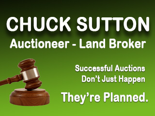 Chuck Sutton Auctioneer & Land Broker, LLC Logo